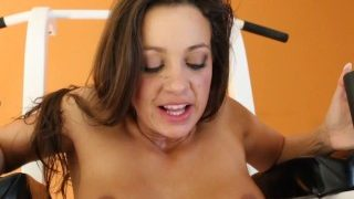 Abigail Mac and Dana DeArmond have an energetic workout