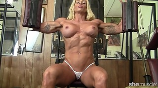 Champ Woman Bodybuilder Enormous Boobs Fine Vagina