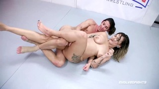 Red August Tough Naked Sex Fight Vs David Lee Getting Roughed Up and Fucked Silly