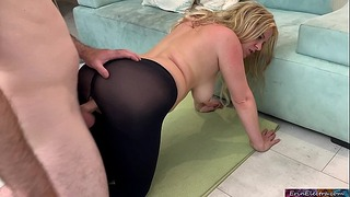 Step Mom Gets Fucked By Stepson While Doing Yoga to Help His Porn Addiction – Erin Electra