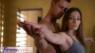 Fitness Rooms Private Yoga Class After Workout for Leggy French Mature