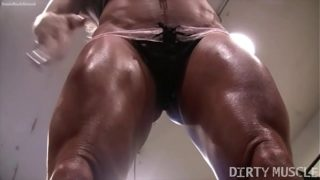 Naked Lady Bodybuilder Ashlee Chambers Sexy Workout